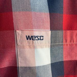 Plaid WESC Long Sleeve Button Down Shirt Large